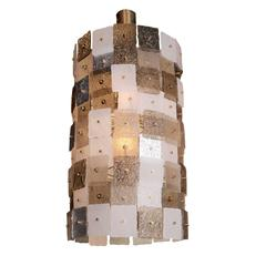 Murano Glass and Brass Barrel Placche Chandelier
