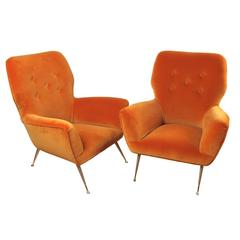 Pair of Italian, Mid-Century Modern Occasional/Childrens Chairs