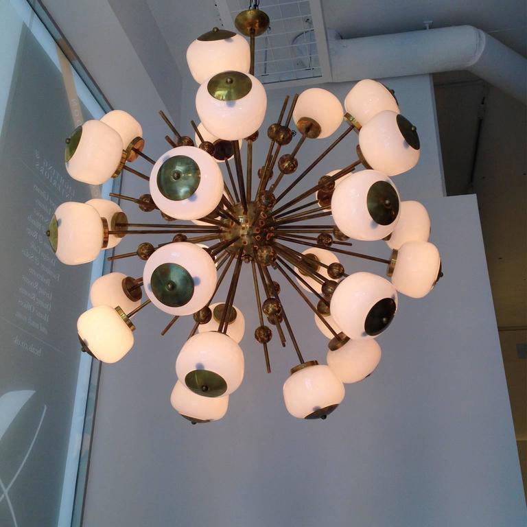 Mid Century Orb Lamp: Mid-Century Modern Style, Sputnik Orb Chandelier For Sale