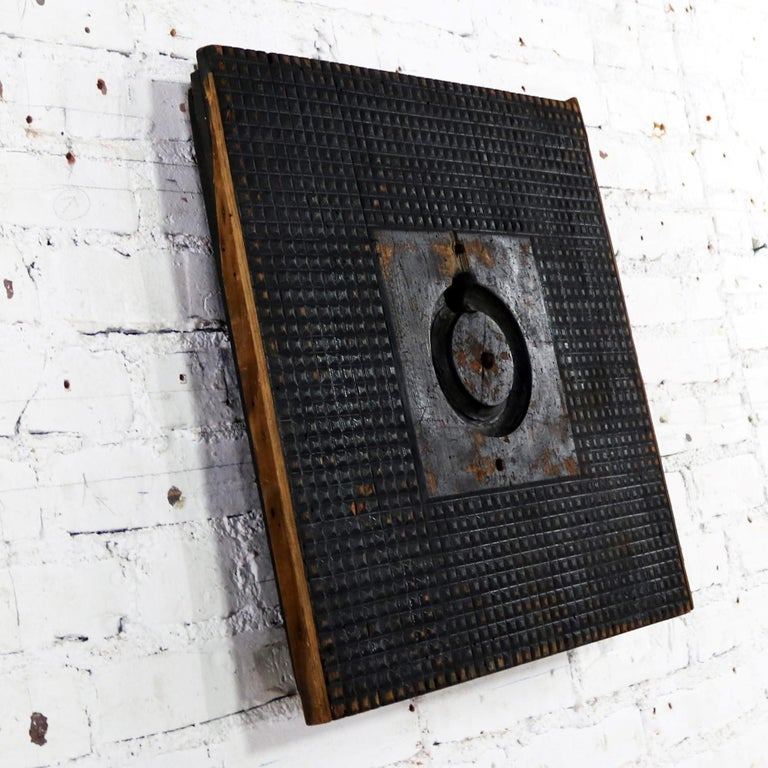 19th Century Antique Industrial Foundry Pattern for Mold Handmade Wood, Number 8 For Sale