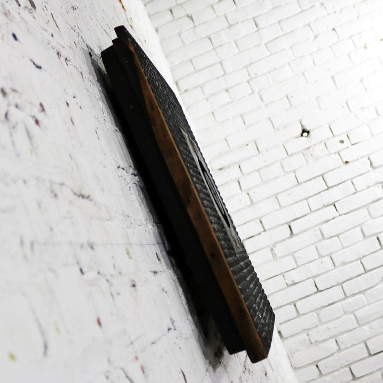 Antique Industrial Foundry Pattern for Mold Handmade Wood, Number 8 For Sale 2