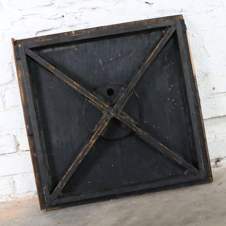 Antique Industrial Foundry Pattern for Mold Handmade Wood, Number 8 For Sale 7