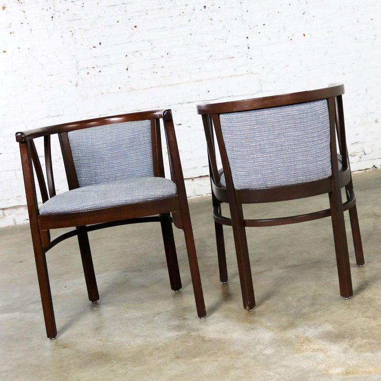 20th Century Pair of Art Deco Bauhaus Style Bistro Side Armchairs by Loewenstein-Oggo For Sale