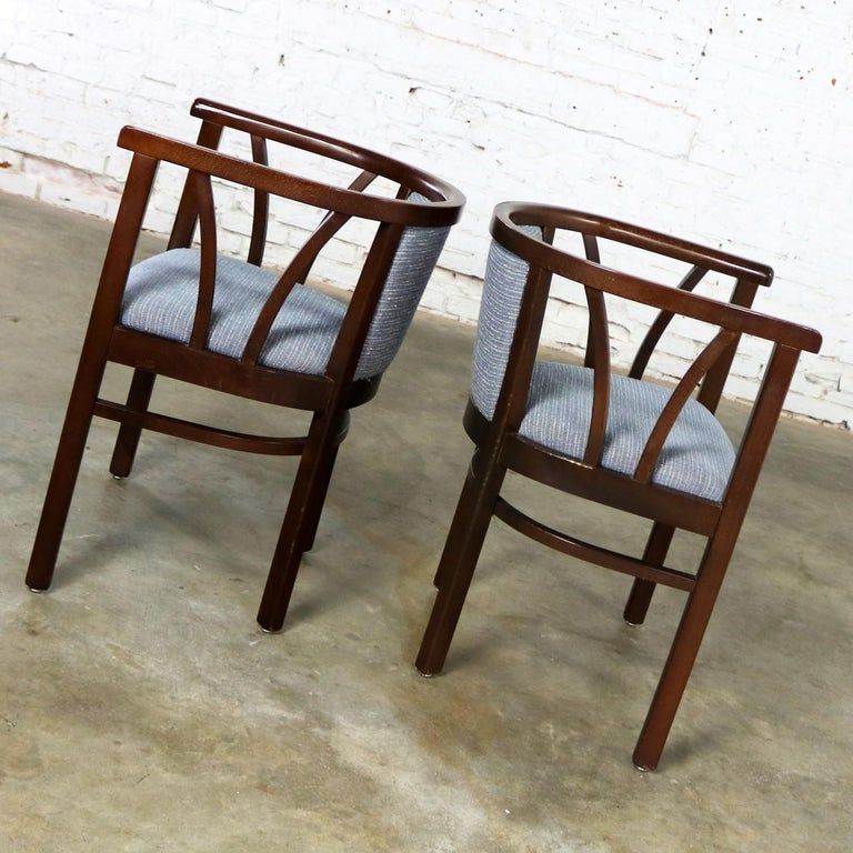 Pair of Art Deco Bauhaus Style Bistro Side Armchairs by Loewenstein-Oggo For Sale 1