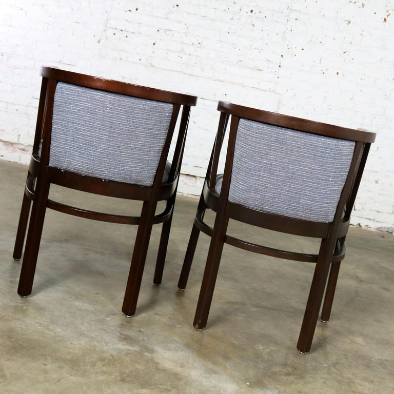 Pair of Art Deco Bauhaus Style Bistro Side Armchairs by Loewenstein-Oggo For Sale 2