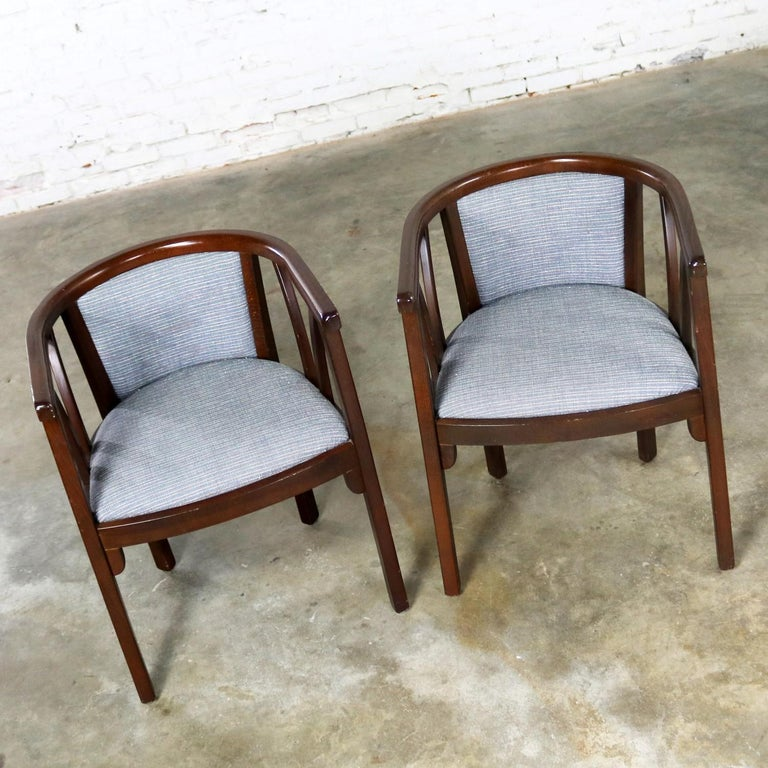 Pair of Art Deco Bauhaus Style Bistro Side Armchairs by Loewenstein-Oggo In Good Condition For Sale In Topeka, KS