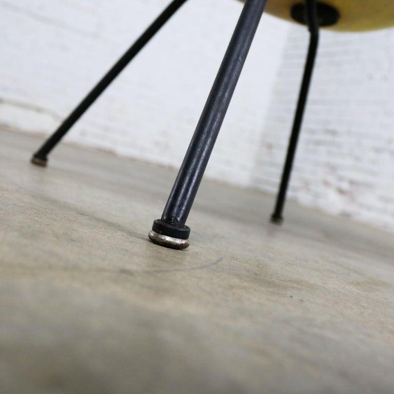 Eames Herman Miller LAX Fiberglass Arm Shell Chair X Base Zenith Rope Edge For Sale 4