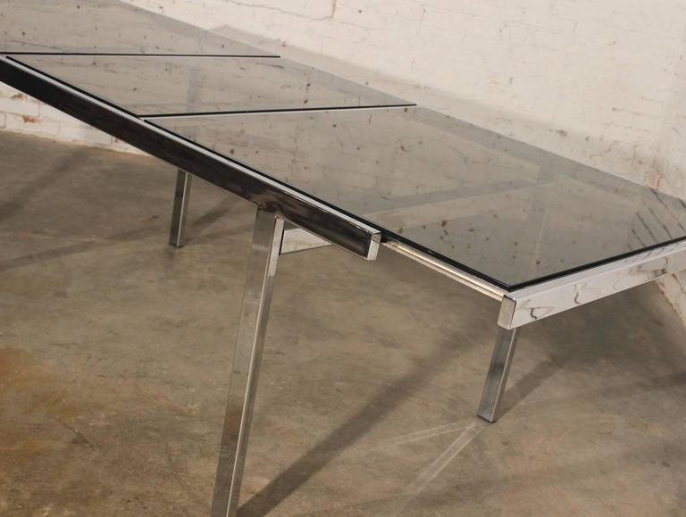 Quite The Innovative Design In This Vintage Milo Baughman Expandable Dining  Table! A Kind Of