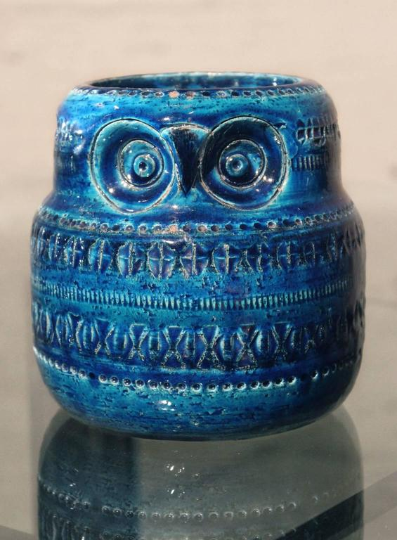 Rosenthal Netter Bitossi Pottery Owl Pillar Candle Holder