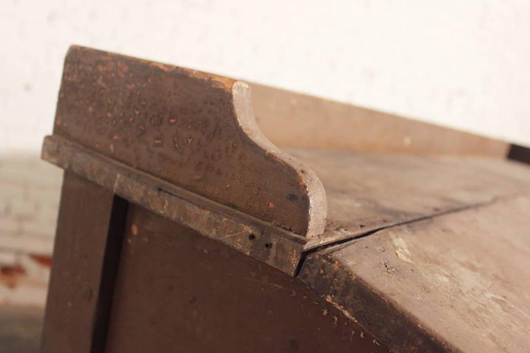 Antique Primitive Wood Standing Desk 3 - Antique Primitive Wood Standing  Desk For Sale At 1stdibs - Antique Standing Desk Antique Furniture