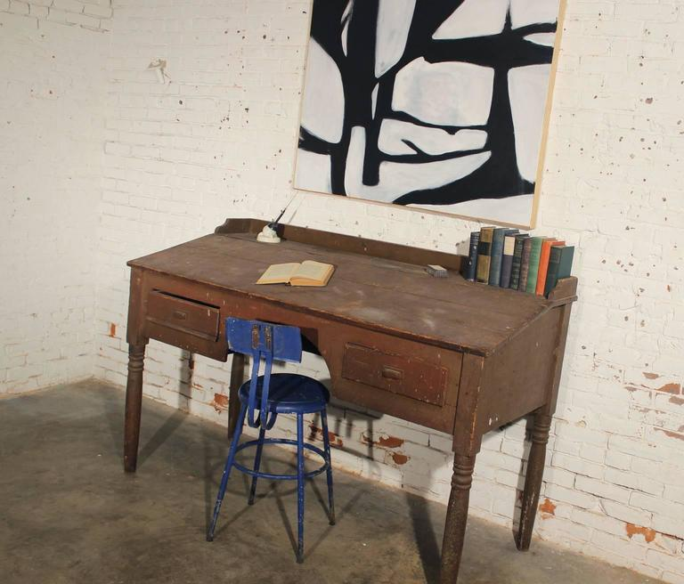 Antique Primitive Wood Standing Desk For 2