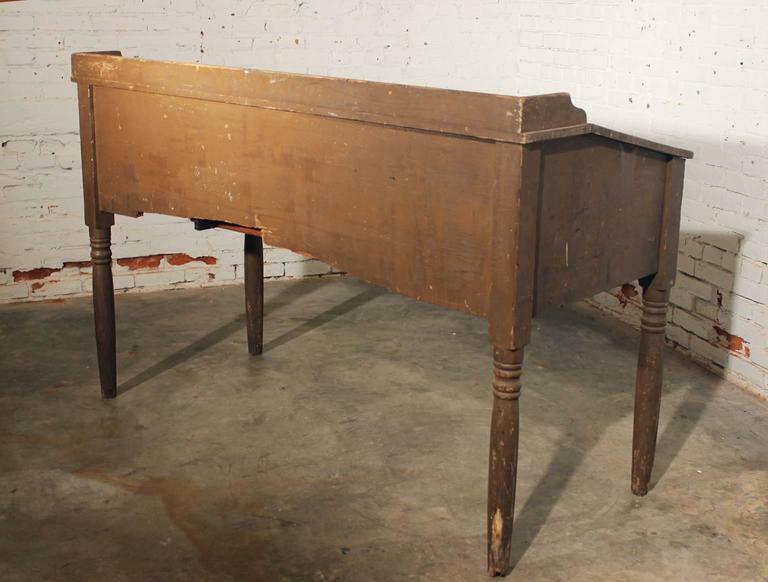 Antique Primitive Wood Standing Desk For Sale 3 - Antique Primitive Wood Standing Desk For Sale At 1stdibs
