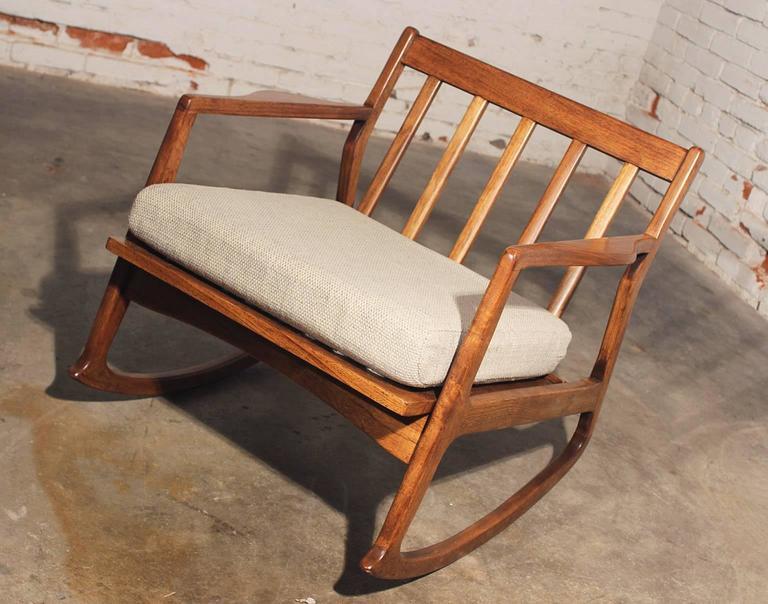 Mid Century Modern Danish Teak Rocking Chair For