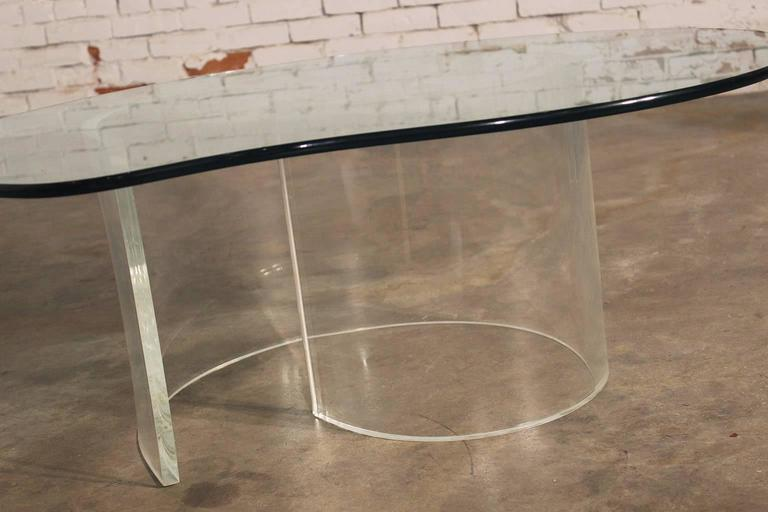 American Vintage Hollywood Regency Lucite Snail Coffee and Side Tables