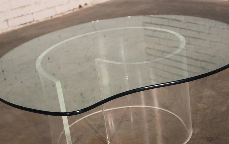 20th Century Vintage Hollywood Regency Lucite Snail Coffee and Side Tables