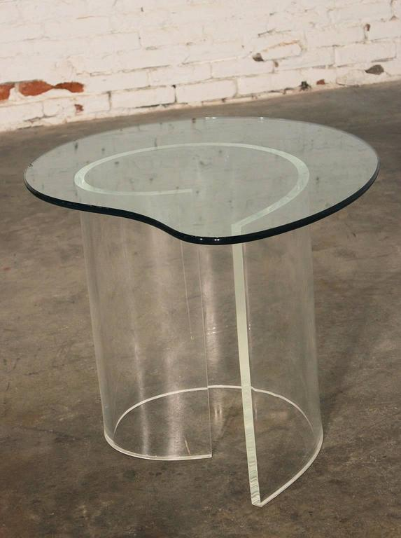 Glass Vintage Hollywood Regency Lucite Snail Coffee and Side Tables