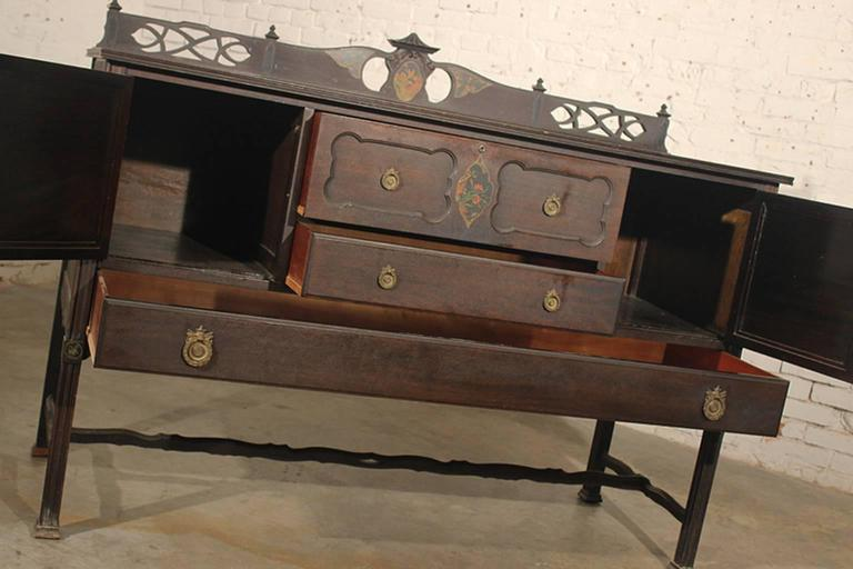 Charles P. Limbert Arts U0026 Crafts Furniture Co. Art Deco Chinoiserie Buffet 2