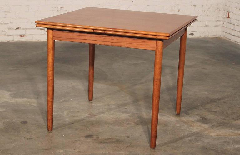 Danish Modern Teak Square Expanding Dining Table 1