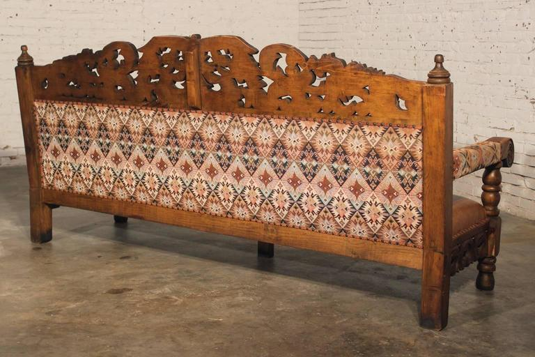 Hacienda Style Spanish Or Mexican Carved Pine And
