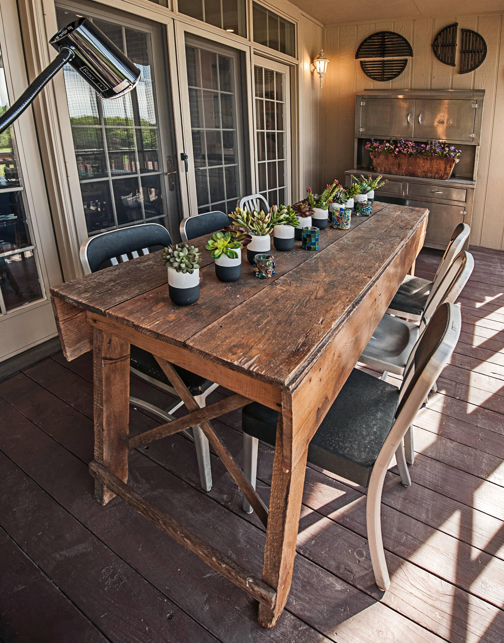 Primitive Industrial Farmhouse Style Dining Table Workbench with ...