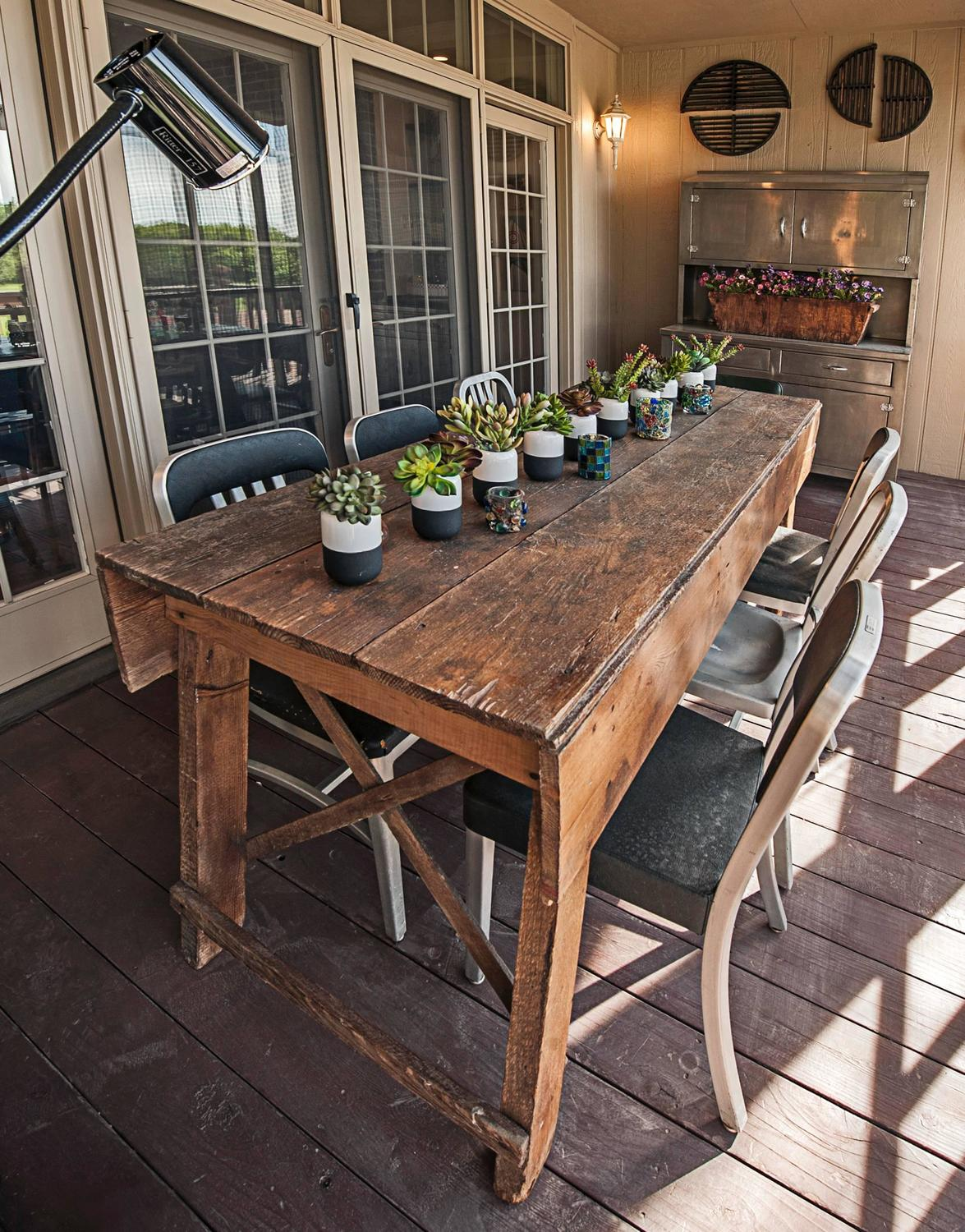 Primitive Industrial Farmhouse Style Dining Table ...