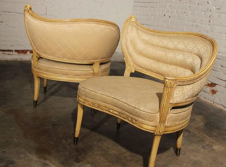 Super Vintage Hollywood Regency One Armed Chairs By Prince Howard Furniture Of Kc Mo Download Free Architecture Designs Scobabritishbridgeorg