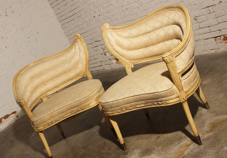 Vintage Hollywood Regency One Armed Chairs By Prince Howard Furniture Of  KC, Mo 3