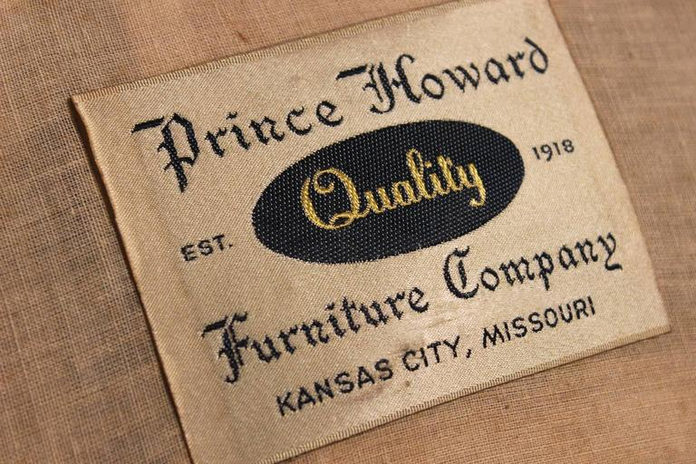 Vintage Hollywood Regency One Armed Chairs By Prince Howard Furniture Of Kc Mo At 1stdibs