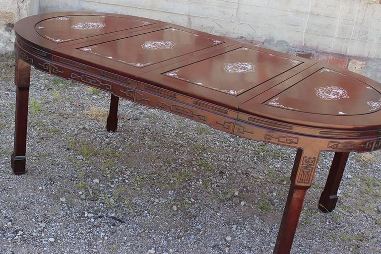 Exceptionnel Just Look At This Gorgeous Vintage Chinese Rosewood And Mother Of Pearl Dining  Table