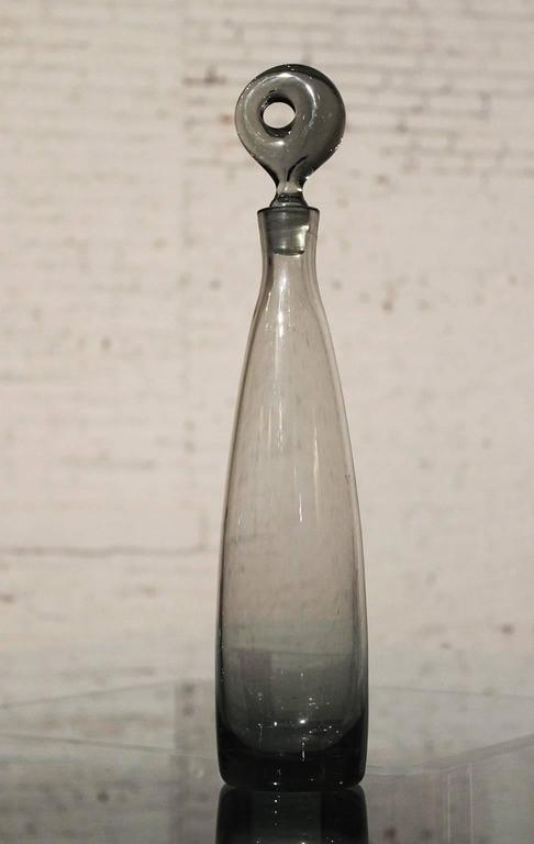 20th Century Mid-Century Aristokrat Decanter by Per Lutken for Holmegaard & 8 Canada Glasses For Sale