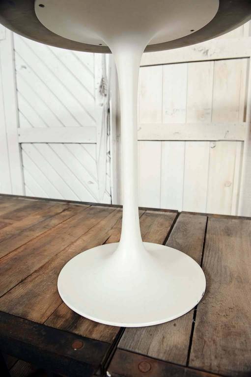Mid Century Modern Saarinen Style Tall Tulip End Side Or