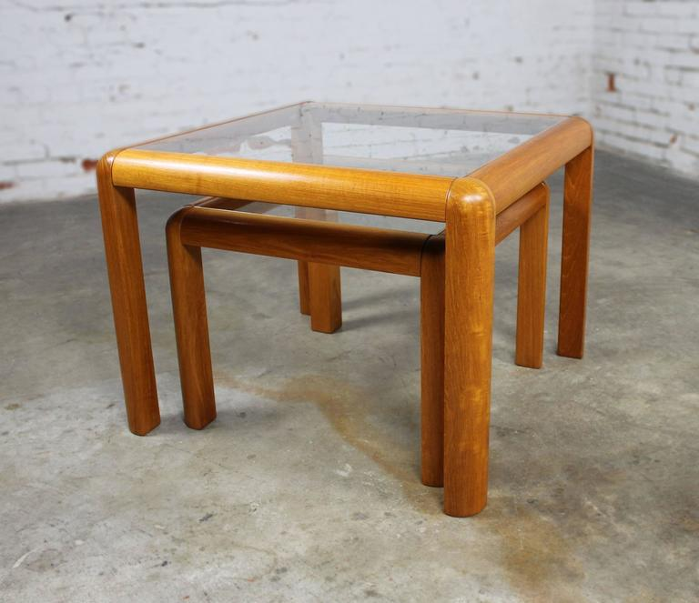 Danish Mid Century Modern Occasional Side Coffee Table Rosewood: Vintage Danish Mid-Century Modern Teak And Glass Square