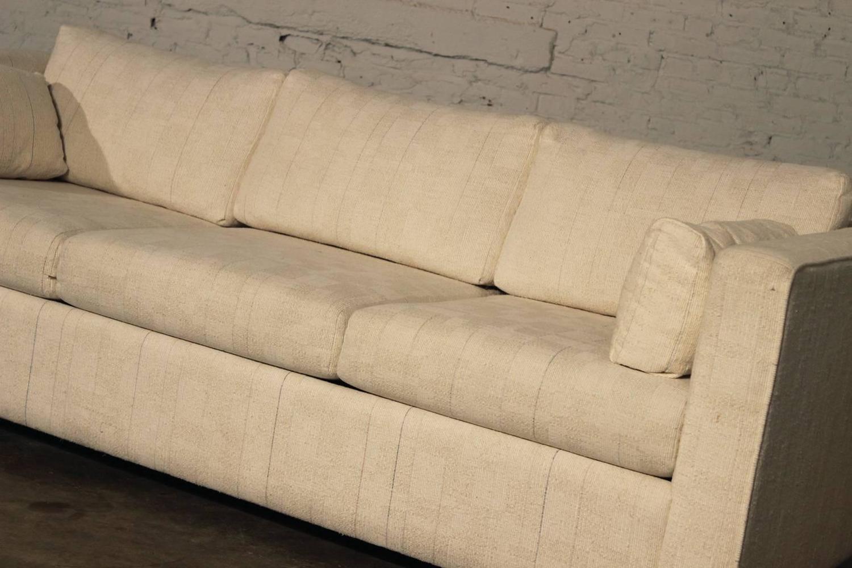 Mid Century Modern White Tuxedo Style Sleeper Sofa For Sale At 1stdibs