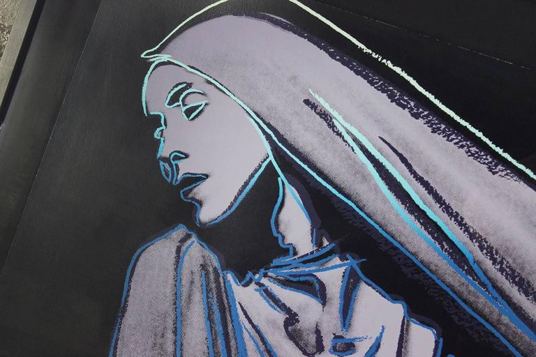 Andy Warhol Lamentation #388 from Martha Graham Series 1986 Signed Screen Print  In Excellent Condition For Sale In Topeka, KS