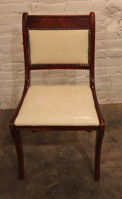 Set of Six Vintage Regency Style Dining Chairs In Good Condition For Sale In Topeka, KS