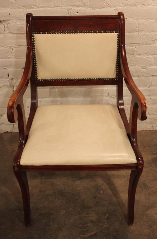 Set of Six Vintage Regency Style Dining Chairs For Sale 1