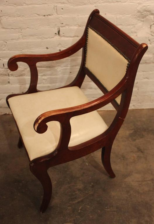Set of Six Vintage Regency Style Dining Chairs For Sale 2