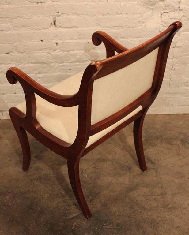 Set of Six Vintage Regency Style Dining Chairs For Sale 3