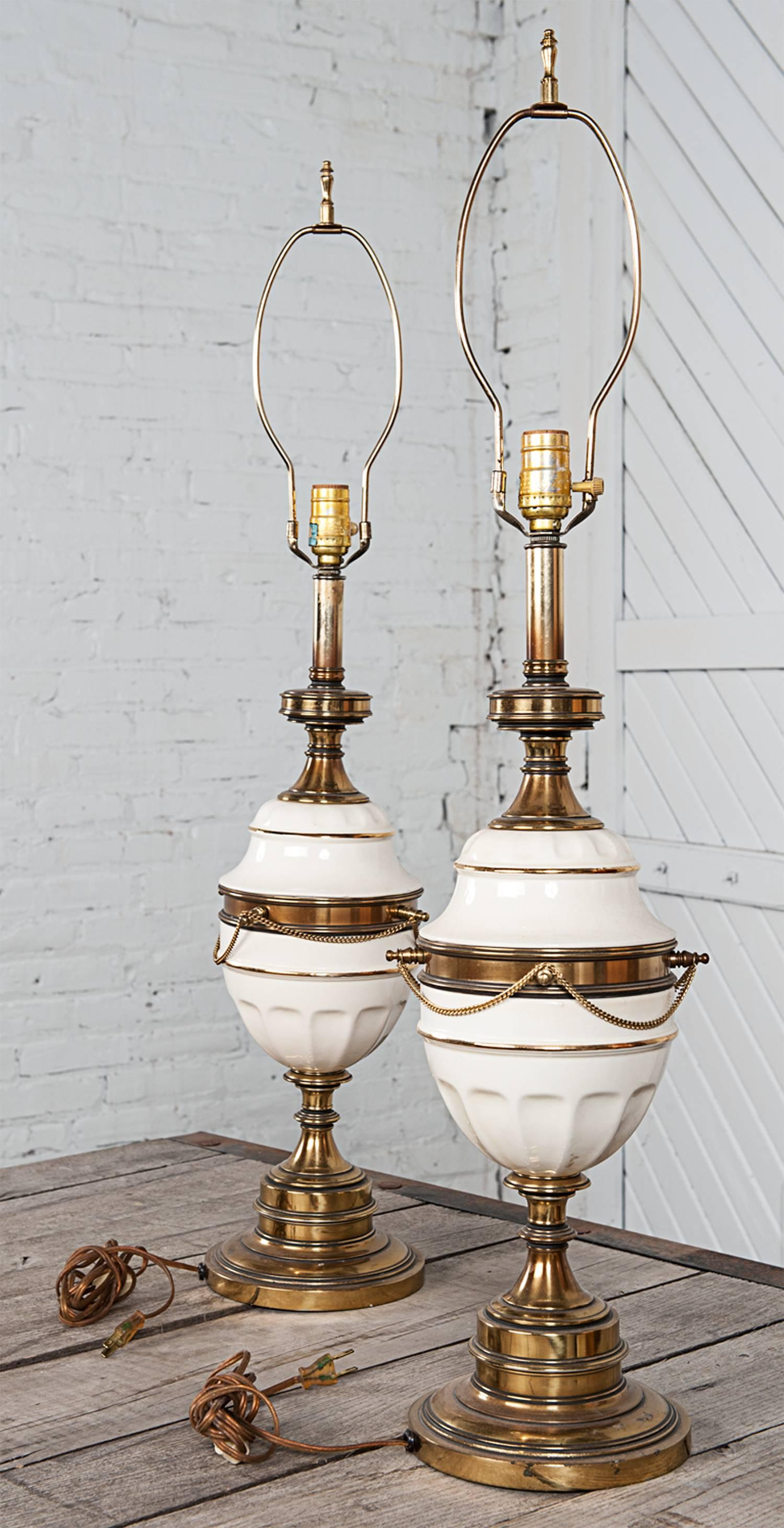 blue lamp table lamps ceramic keaton white urn dear pin gold and