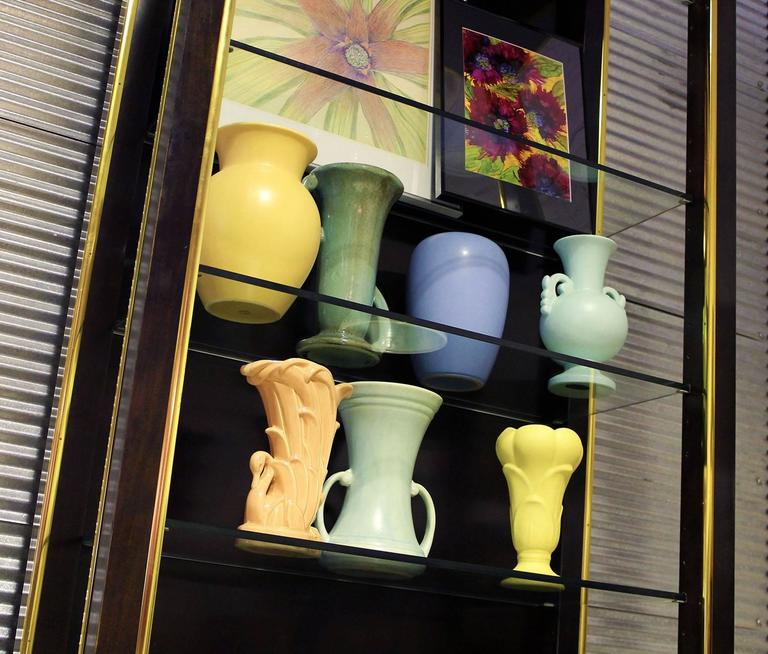 Vintage Collection of Seven Mid-Century Pottery Vases Various Makers 3