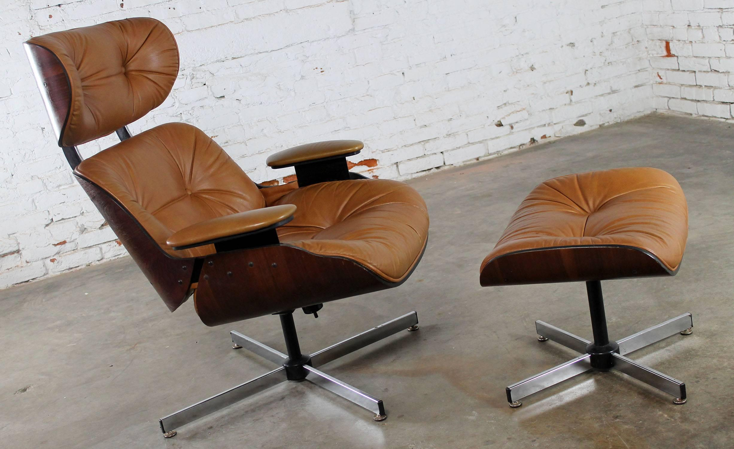 Surprising Mid Century Modern Plycraft Eames Style Lounge Chair And Ibusinesslaw Wood Chair Design Ideas Ibusinesslaworg
