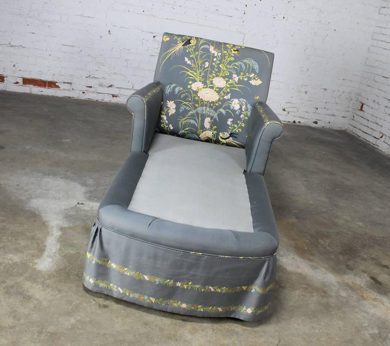 vintage 1940s double armed chaise longue newly upholstered at 1stdibs. Black Bedroom Furniture Sets. Home Design Ideas