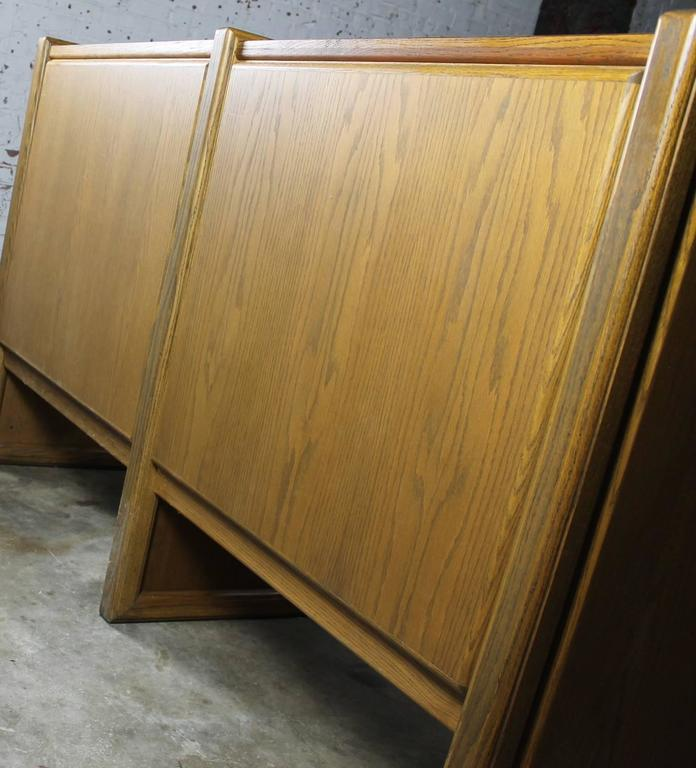 Vintage Oak 60-Drawer Library Card Catalog Cabinet In Good Condition For Sale In Topeka, KS