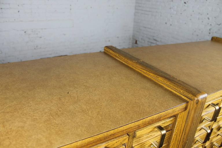 Vintage Oak 60-Drawer Library Card Catalog Cabinet For Sale 2