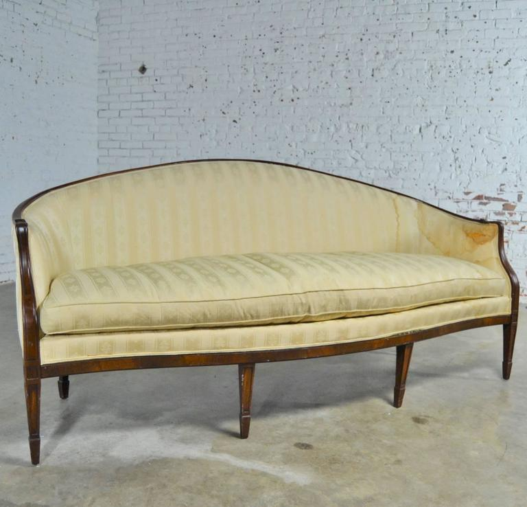 Vintage Hickory Chair Company Regency Style Mahogany Frame Sofa With Spring Down Cushion This Listing