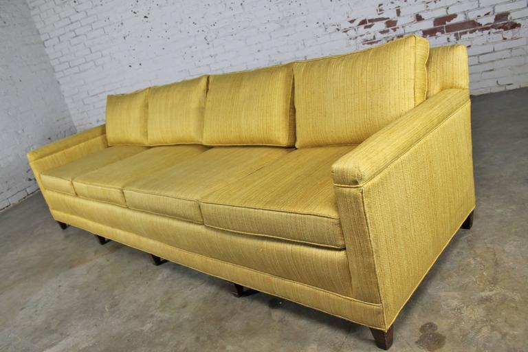 Mid Century Modern Vintage Mid Century Four Cushion Extra Long Lawson Style  Golden
