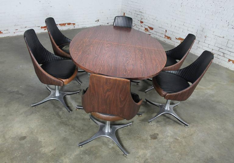 Enjoyable Mid Century Dinette Set Oval Double Pedestal Table With Six Gmtry Best Dining Table And Chair Ideas Images Gmtryco