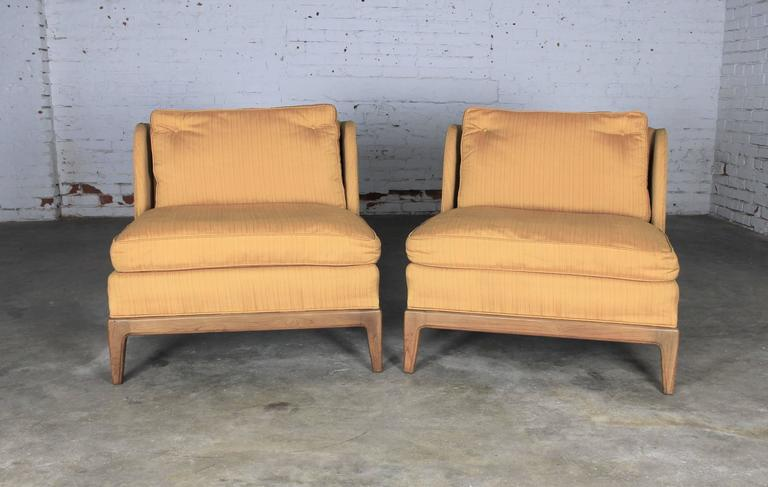 Furniture Honesty Antique Grey Striped Slipper Chair Chairs