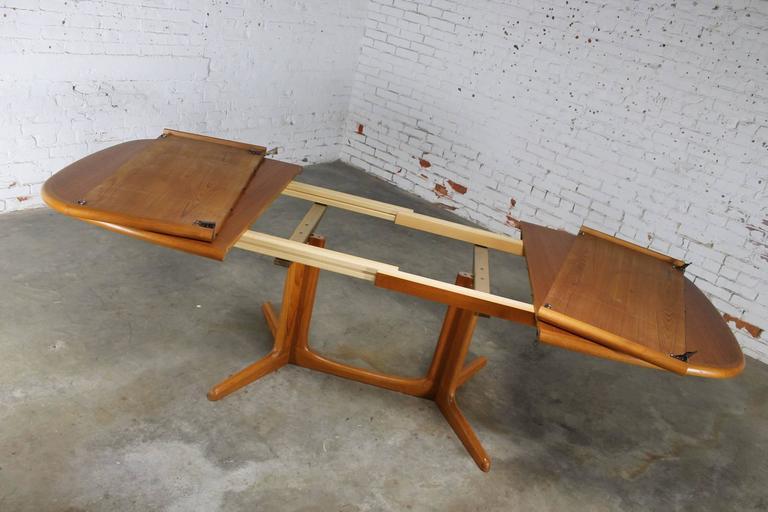 Gudme Mobelfabrik Teak Expanding Dining Table Vintage