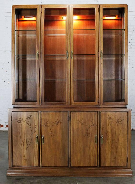 on perfect cabinet p antique finish ideaforgestudios x vintage original walnut hutch wide china